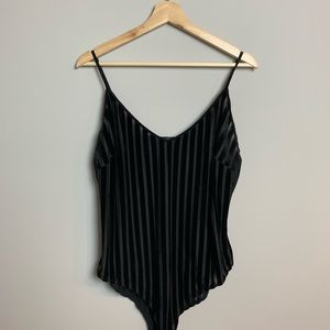 Forever 21 Plus size (1X) striped bodysuit